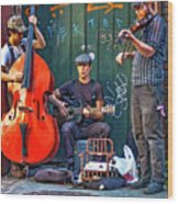 New Orleans Street Musicians Wood Print