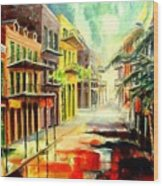 New Orleans Summer Rain Wood Print