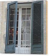 New Orleans Windows 5 Wood Print