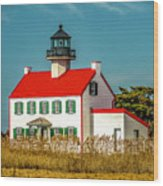 New Paint On East Point Lighthouse Wood Print
