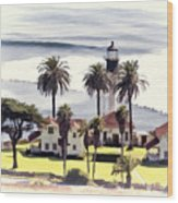 New Point Loma Lighthouse Wood Print