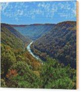 New River Gorge - Autumn Wood Print