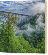 New River Gorge Bridge Morning  Wood Print