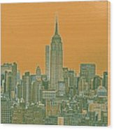 New Tork City Ny Travel Poster 4 Wood Print