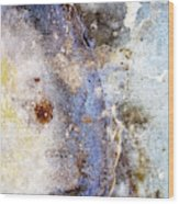 Art Blue Metal 58 Wood Print