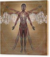 New Vitruvian Woman Wood Print