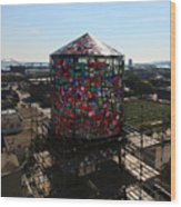 Stained Glass Water Tower In Milwaukee Wood Print