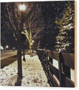 New Winter Snow Wood Print