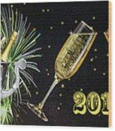 New Year 2018 Wood Print