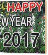 New Year Wood Print