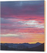 New Year Dawn - 2016 December 31 Wood Print