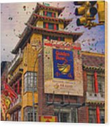 New Year In Chinatown Wood Print