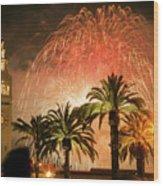 New Years Fireworks Finale San Francisco Wood Print