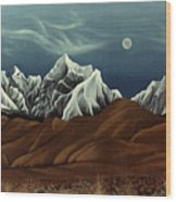 New Years Moon Over Cojata Peru Wood Print