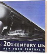 New York 20th Century Limited Train  1938 Wood Print