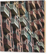 New York Apartments  Wood Print