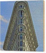 New York Architecture Render Wood Print