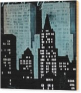 New York Art Deco Wood Print