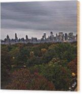 New York At Dusk Wood Print