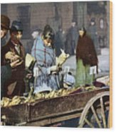 New York: Banana Cart Wood Print
