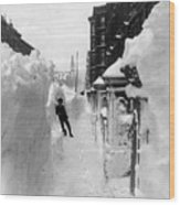 New York: Blizzard Of 1888 Wood Print