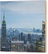 New York Blues Wood Print