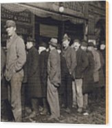 New York: Bread Line, 1907 Wood Print