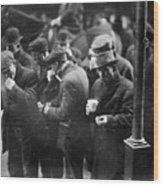 New York: Bread Line, 1915 Wood Print