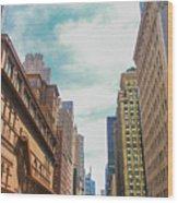 New York Buildings Wood Print