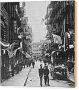 New York : Chinatown, 1909 Wood Print
