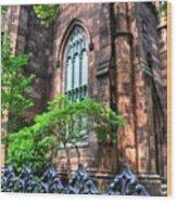 New York Church Wood Print