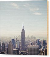 New York City - Empire State Building Panorama Wood Print