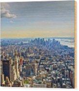 New York City - Manhattan Wood Print