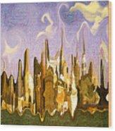New York City 2200 - Modern Art Wood Print