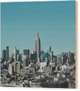 New York City Blues Wood Print