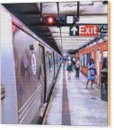 New York City Broadway Subway Station Wood Print
