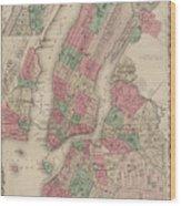 New York City, Brooklyn, Jersey City, Hoboken Wood Print