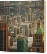 New York City Buildings And Skyline Wood Print
