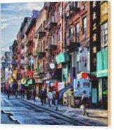 New York City Chinatown Wood Print