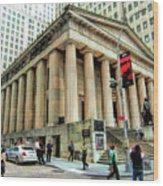 New York City Federal Hall Wood Print