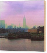 New York City From Hoboken Wood Print