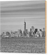 New York City From The Staten Island Ferry Wood Print