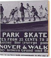 New York City, Illustration Advertising Wood Print