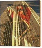 New York City Jogger - Collage Wood Print