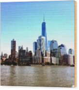 New York City Cityscape Wood Print