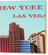 New York City- Las Vegas Wood Print