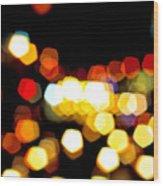 New York City Lights - My View Wood Print