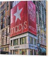 New York City Macy's Herald Square Store Wood Print