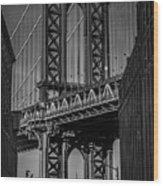 New York City - Manhattan Bridge Wood Print
