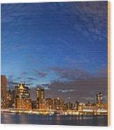 New York City Manhattan Skyline Panorama Wood Print